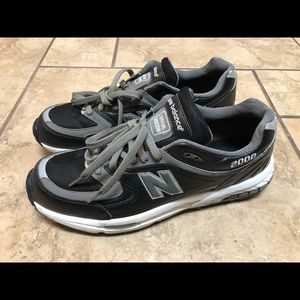 New Balance Special Edition Black Leather Sneakers